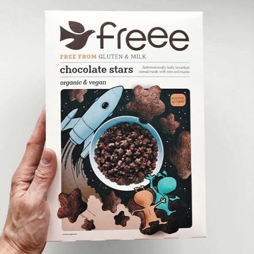 Шоколадови звездички /без глутен, веган, био/ FREEE by Doves Farm, 300 г
