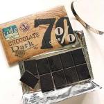Черен шоколад 70% с морска сол и ванилия 'Zido', 80 гр.