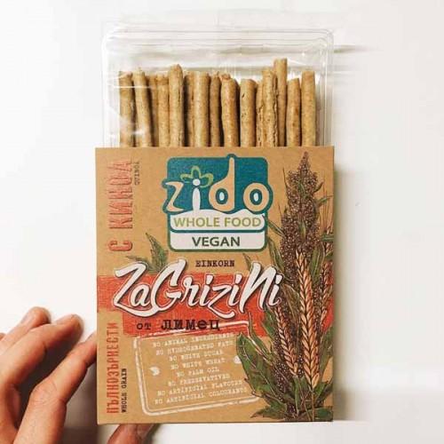 Гризини от пълнозърнест лимец с киноа 'ZaGrizini', 180 гр.
