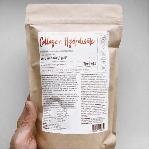 Хидролизиран колаген /телешки, без аромат/ 'е-Лек', 300 г
