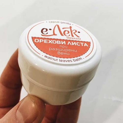 Билков мехлем с Орехови листа при разширени вени 'е-Лек', 40 мл