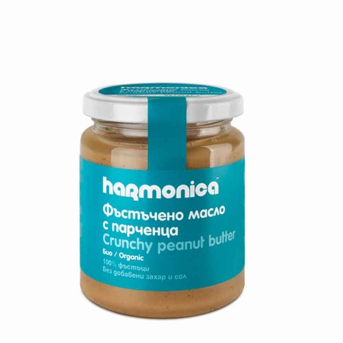 Фъстъчено масло с парченца БИО harmonica /без добавена захар и сол/, 250g