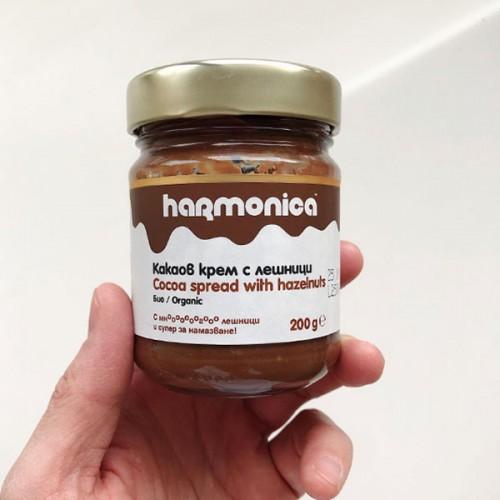 Какаов био крем с 50% лешници /течен шоколад, веган/ 'harmonica', 200 г