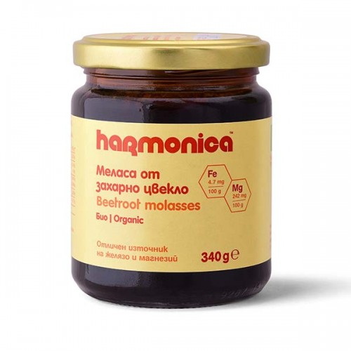 Меласа от захарно цвекло /БИО/ - естествен източник на желязо 'harmonica', 340 г