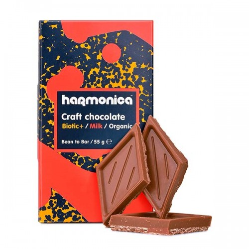 Млечен шоколад с пробиотици и ванилия /био, без соя/ 'harmonica', 55 г