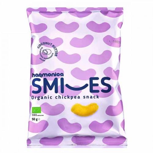 Снакс нахут и ориз с кокосово масло Smiles 'harmonica', 50g