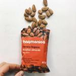 Печени био бадеми от България, леко подсолени 'harmonica', 80 гр.