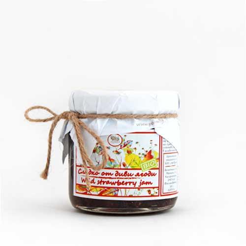 Сладко от био горски Ягоди /цял плод/ 'Поляна', 140g