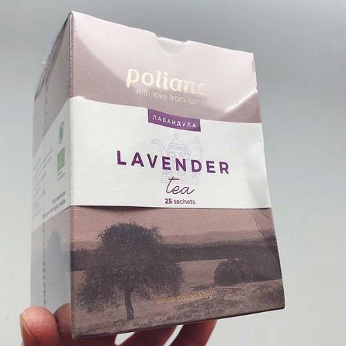 Чай от Лавандула при безсъние, стрес и нервност БИО 'Поляна', 25 биоразградими пакетчета