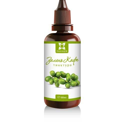 Зелено кафе за намаляване на теглото и стимулиране на диурезата 'Панацея' - тинктура, 100ml