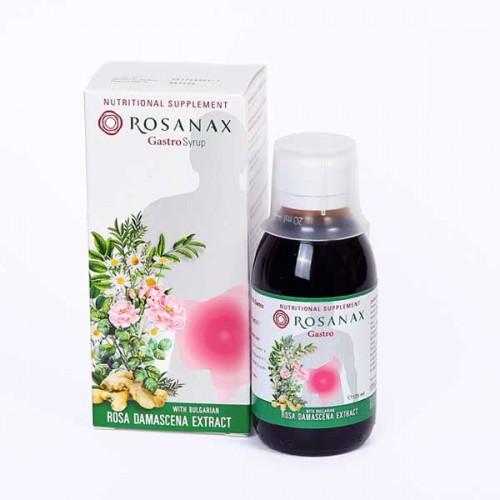 Гастро сироп 'ROSANAX' за храносмилателната система с Розова вода, Лайка, Джинджифил и Женско биле, 125ml