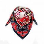 Шал със стилизирани български мотиви от района на Граово, колекция Корени, 'Шевица' /квадрат 90х90 см/