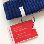 Плетена шапка /синя/ с кашмир и мотиви от гр. Плевен 'ШЕВИЦА'