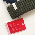 Плетена шапка /зелена/ с кашмир и мотиви от гр. Плевен 'ШЕВИЦА'