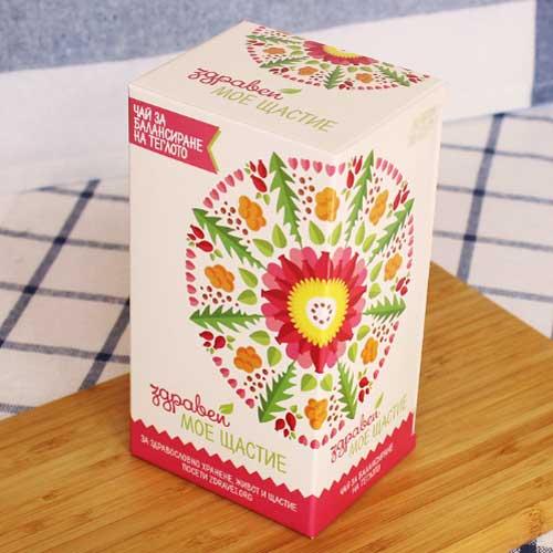 Чай за балансиране на теглото след диета 'МОЕ ЩАСТИЕ' на Бени от 'Здравей', 21 пакетчета с конец