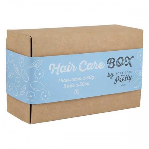 Подаръчна кутия с натурална козметика за коса /комплект от 3 продукта/ 'Hair Care box', Zoya Goes Pretty